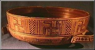 Swastika-odorned bowl