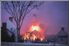 Church-burning scene