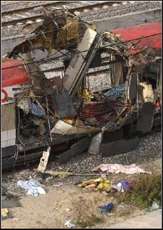 Wreckage from the Madrid Bombings